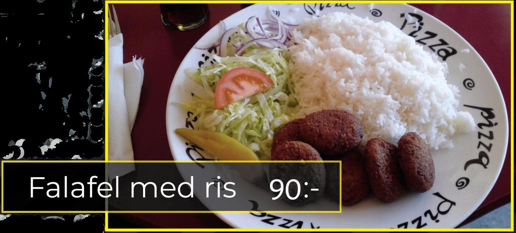 falafel med ris